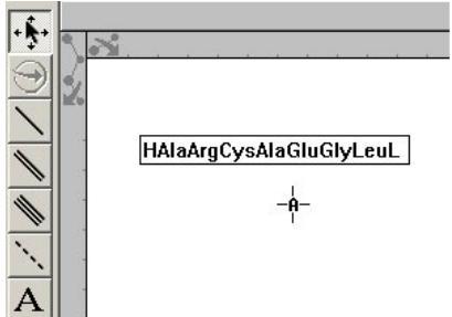 "Replacement Text框中输入""HAlaArgCysAlaGluLeuLysPheValOH"""