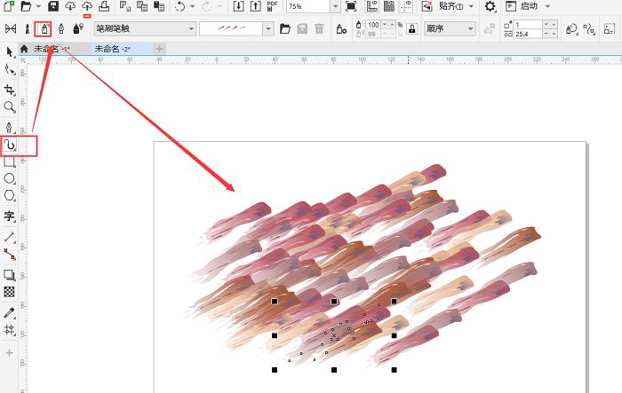 CorelDRAW如何制作涂鸦彩色字效果