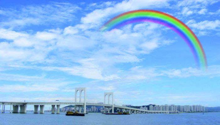如何用CorelDRAW画天空彩虹
