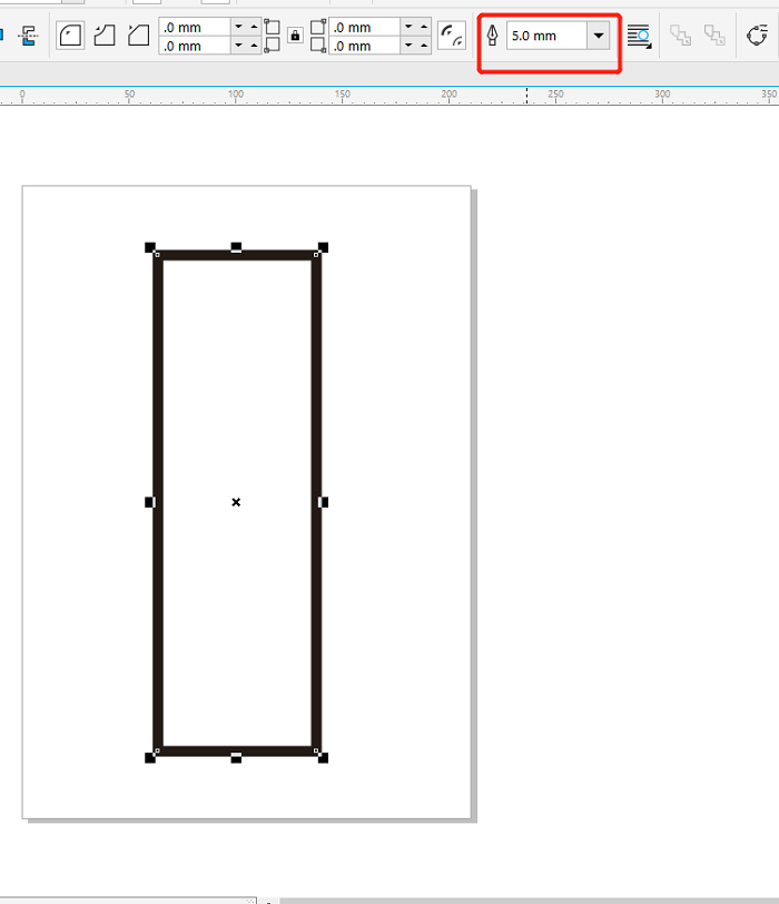 CorelDRAW中画出一个矩形