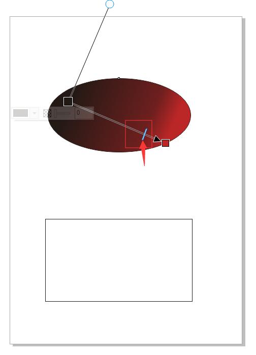 拖动长条滑块改变渐变角度