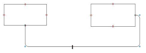 圆直角连接符