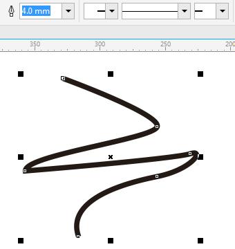 CorelDRAW X8实现轮廓线的粗细变化的方法