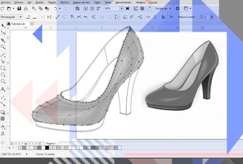 使用CorelDRAW设计高跟鞋(二)
