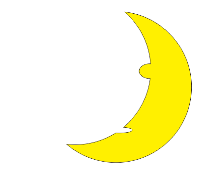 CDR画月亮