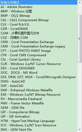 CorelDRAW中可以导入的文件格式有哪些