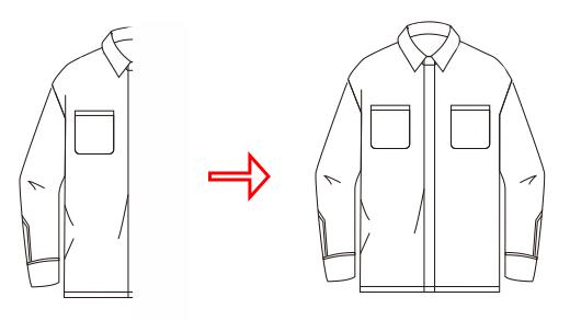 CDR衬衫款式图