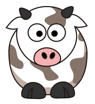 CDR画小牛