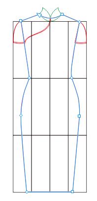 CDR旗袍构图