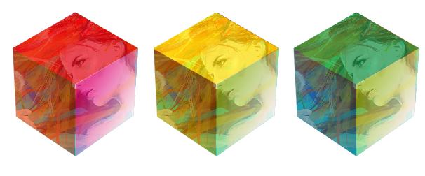 CDR透明六边形