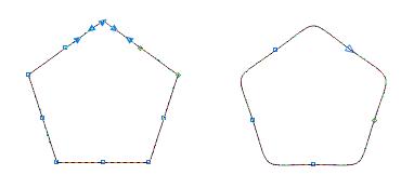 直角变圆角