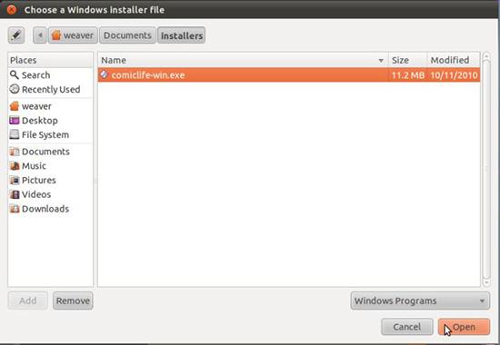 选择安装文件路径