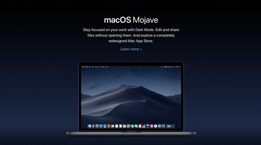 苹果macOS 10.14 Mojave正式版已推送