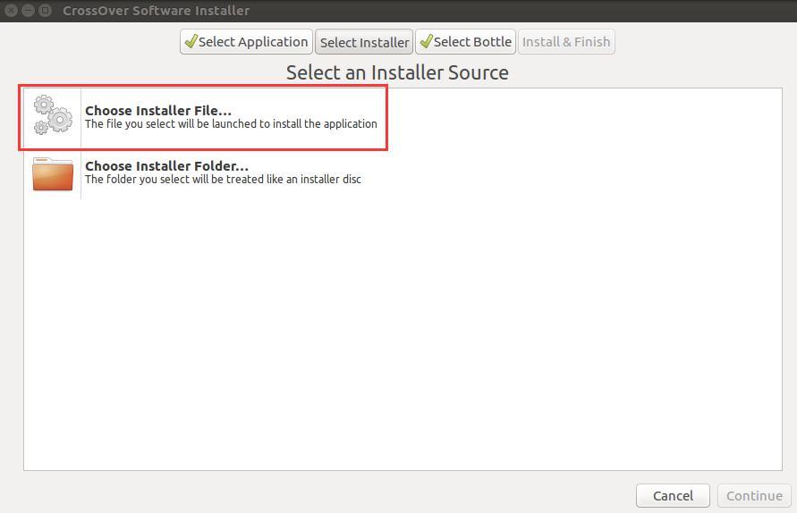 Choose Installer File