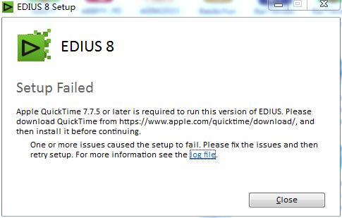 EDIUS安装必备软件之QuickTime