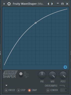 FL Studio Fruity Waveshaper