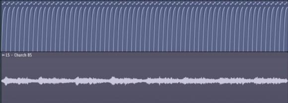 FL Studio中的音量自动化界面