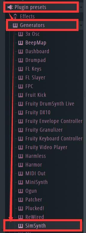 SimSynth插件位置
