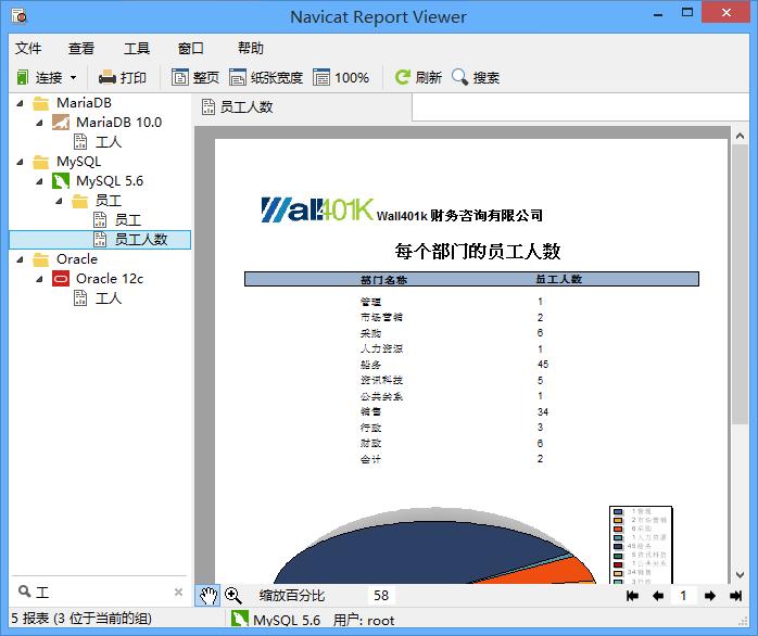 Navicat Report Viewer树筛选