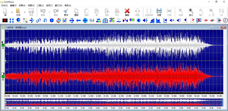 GoldWave音频处理界面