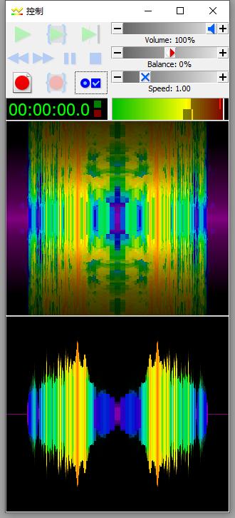 """图五:GoldWave 6 中文版""""缓慢扩大褪色""""对比界面"""