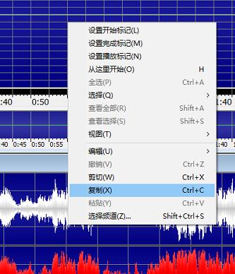 图四:GoldWave中文版对立体音频复制界面