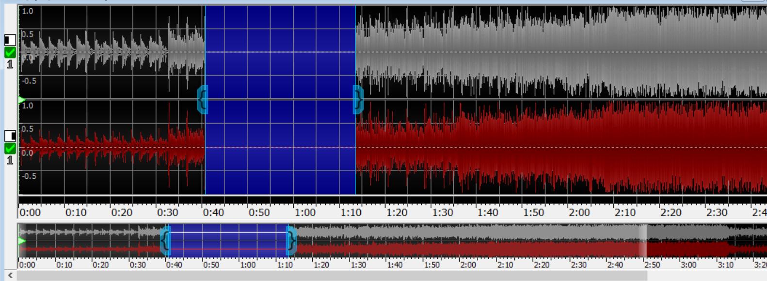 图片4:GoldWave将某一段音频静音后