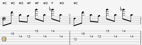 Guiutar Pro 樂句(附音符標識)