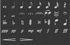 音符相關的標記