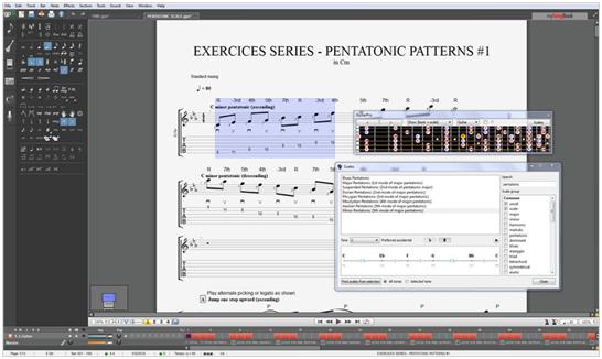 Guitar Pro創建多音軌樂譜