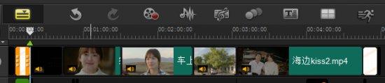 视频剪辑排列