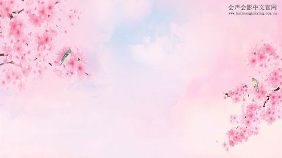 桃树背景图片