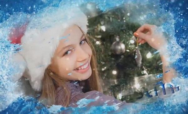 会声会影圣诞节冰雪奇缘模板