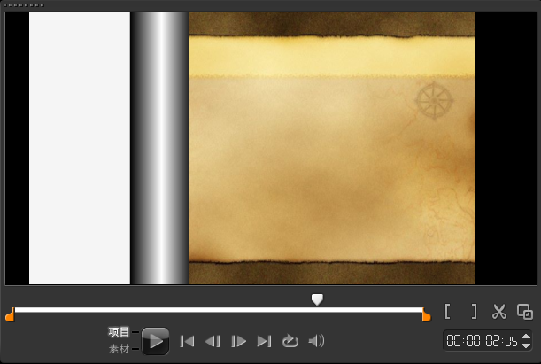 如何制作视频单向转动转场11