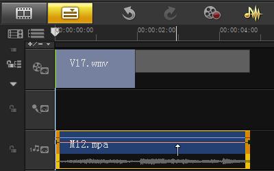 编辑视频时如何通过音量调节线调节音量3