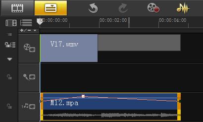 编辑视频时如何通过音量调节线调节音量4