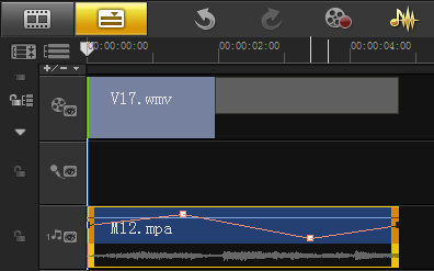 编辑视频时如何通过音量调节线调节音量5
