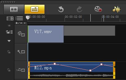编辑视频时如何通过音量调节线调节音量6