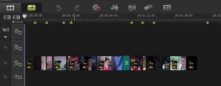 按照片段剪辑排列视频