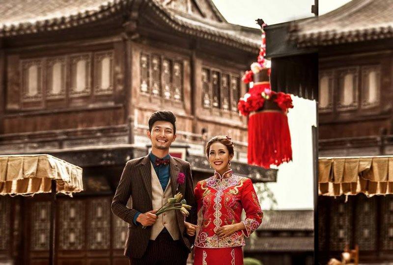 中式婚纱照三