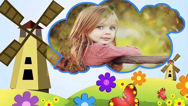 儿童写真电子相册模板