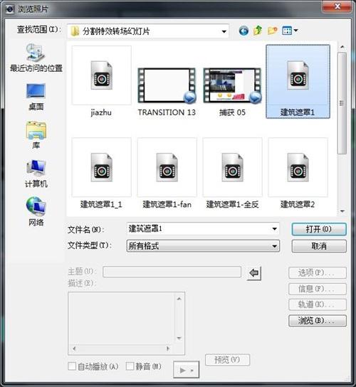 项目文件视频格式