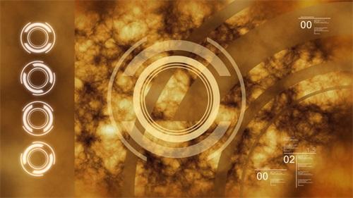 金黄爆炸视频素材