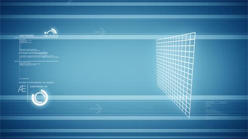 蓝色科技视频素材
