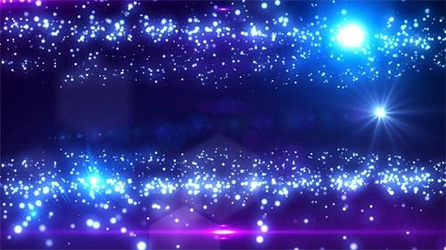 蓝色粒子光效