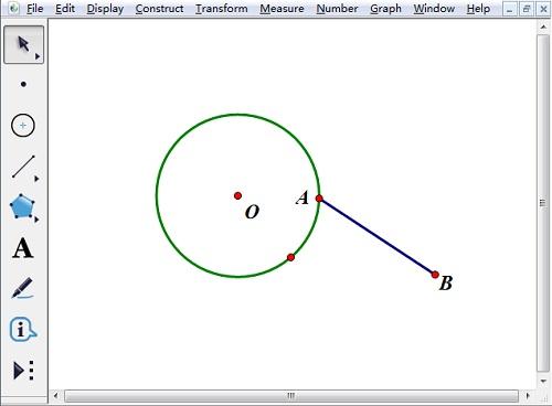 画圆O和线段AB