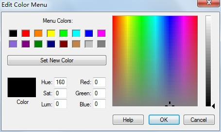颜色编辑菜单