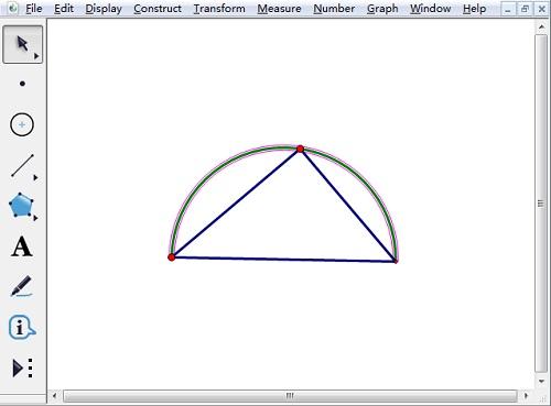 构造过三点的弧