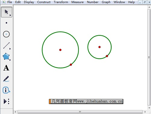 使用圆安徽快3工具绘制双圆