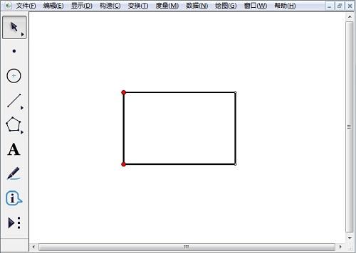 利用自定义大发排列三工具绘制矩形